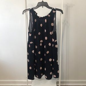 Loft polka dot dress, like new